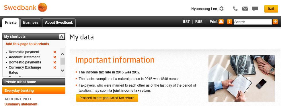 Doing Personal Taxes in Estonia